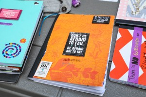 Notebook of a student in the First Star foster youth education programs
